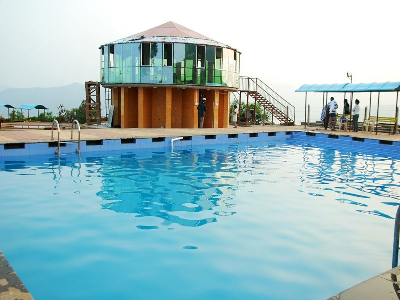 swimming pool at Mantra Resorts near Pune