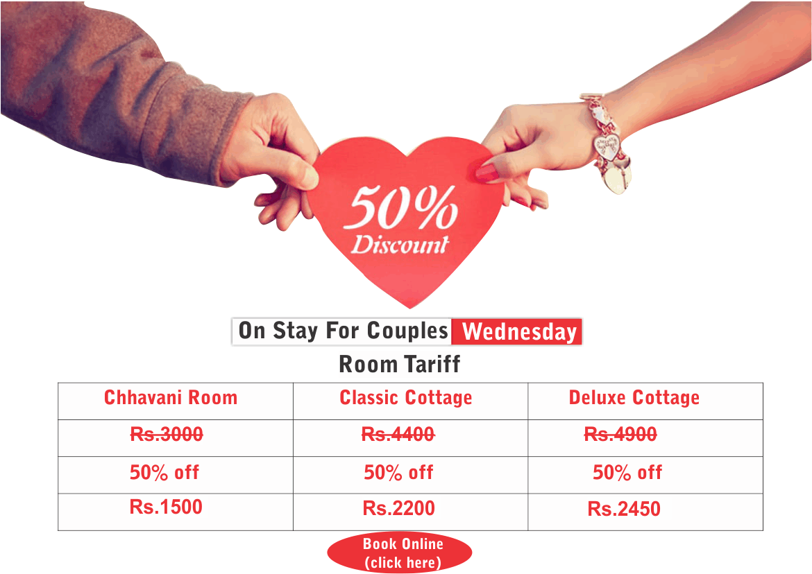 Happy wonder wednesday Couple offer resort near pune
